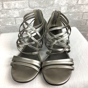 Montego Bay Club Strappy Silver Open Toe Sandals
